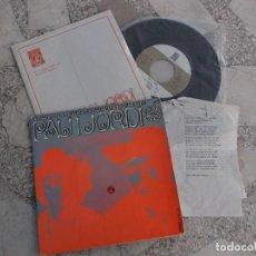 Discos de vinilo: SINGLE PAU RIBA I JORDI PUJOL 1968, CONCENTRIC, 4 CANÇONS, LA PASTORETA, LA VIUDETA,LA LLEBRETA Y E. Lote 221884636