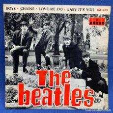 Discos de vinilo: SINGLE THE BEATLES - BOYS -CHAINS - LOVE ME DO - ESPAÑA - AÑO 1964 - BUEN ESTADO. Lote 221885200