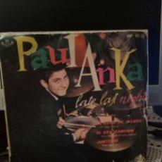 Discos de vinilo: PAUL ANKA - LATE LAST NIGHT. Lote 221886323