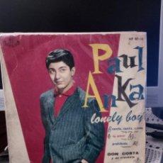 Discos de vinilo: PAUL ANKA - LONELY BOY. Lote 221886608