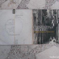 Discos de vinilo: SINGLE ,CLEMENTINA ARDERIU, 1965, EDIGSA, 2 CANÇONS,POEMES AMB LA SEVA VEU. Lote 221887367