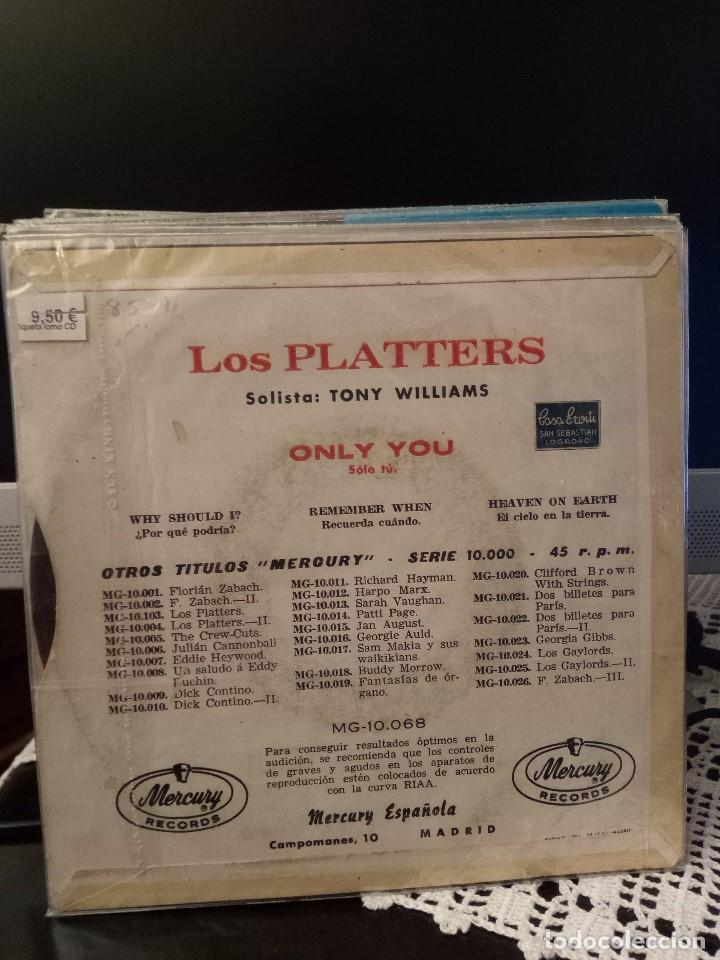 Discos de vinilo: The Platters - Only you - Foto 2 - 221888396