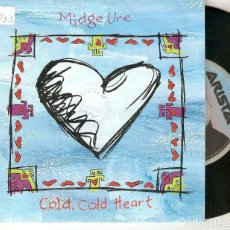 "Discos de vinilo: MIDGE URE 7"" SPAIN 45 SINGLE VINILO 1991 COLD COLD HEART + FLOWERS POP ROCK NEW WAVE EX ULTRAVOX VER. Lote 221888838"