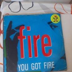 Discos de vinilo: MAXI ,CARPETA GASTADA Y DISCO USADO. FIRE GOT FIRE-98. Lote 221889217