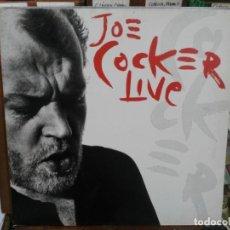 Discos de vinilo: JOE COCKER - JOE COCKER LIVE! - DOBLE LP. DEL SELLO CAPITOL RECORDS DE 1990. Lote 221892042