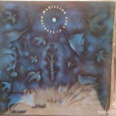 Discos de vinilo: MARILLION: HOLIDAYS IN EDEN , EMI 1991 CON INSERTO Y LETRAS, NUEVO. Lote 221892655