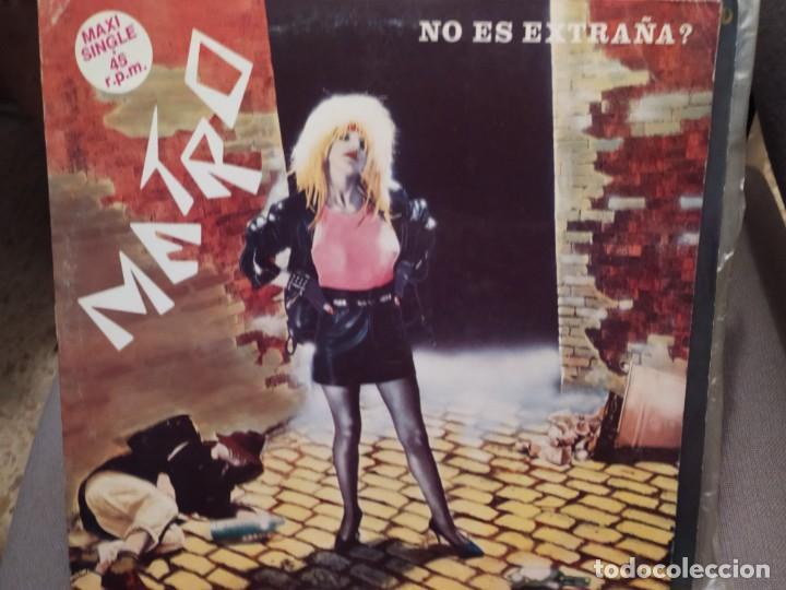 METRO: NO ES EXTRAÑA? ACUARIO 1984 MAXI SINGLE PROMOCIONAL (Música - Discos de Vinilo - Maxi Singles - Grupos Españoles de los 70 y 80)