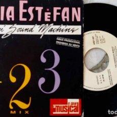 Discos de vinilo: GLORIA ESTEFAN. 123 MIX / THE PASADENAS. MEDLEY. DISCO SOLO PROMOCIONAL 40 PRINCIPALES. Lote 221899652