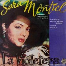 Discos de vinilo: SARA MONTIEL. LA VIOLETERA. + 3. EP BANDA SONORA.. Lote 221902692