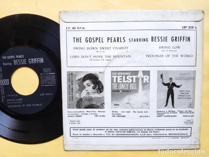 "Discos de vinilo: THE GOSPEL PEARLS & BESSIE GRIFF – Rarest Orig EP 45 Spain PS 7"" – EX * 1963 - Foto 2 - 221931498"