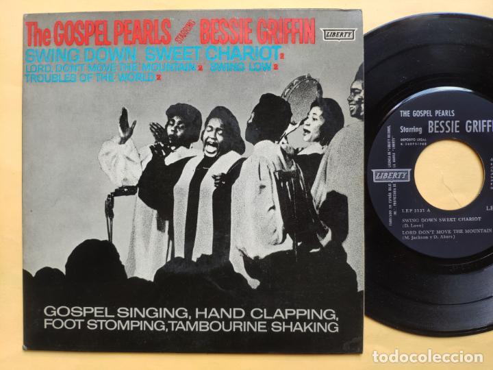 "THE GOSPEL PEARLS & BESSIE GRIFF – RAREST ORIG EP 45 SPAIN PS 7"" – EX * 1963 (Música - Discos de Vinilo - EPs - Funk, Soul y Black Music)"