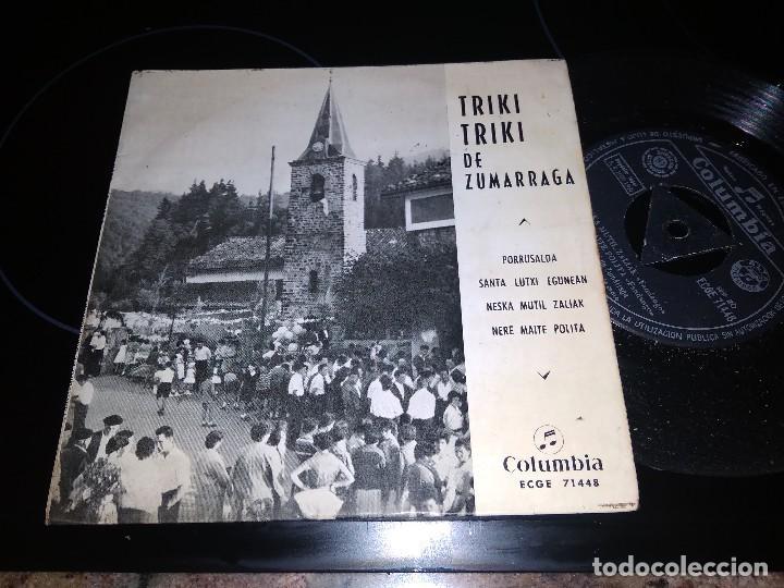 TRIKI TRIKI DE ZALDIVAR / OIRRUSALDA JARRAIEK / EP 45 RPM / COLUMBIA 1960 LAMBRETTA (Música - Discos de Vinilo - EPs - Country y Folk)