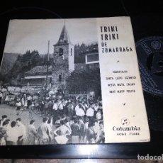 Discos de vinilo: TRIKI TRIKI DE ZALDIVAR / OIRRUSALDA JARRAIEK / EP 45 RPM / COLUMBIA 1960 LAMBRETTA. Lote 221937222