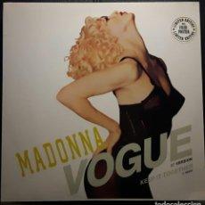 Discos de vinilo: MADONNA - VOGUE - MAXISINGLE - ALEMANIA - EDICION LIMITADA CON POSTER - MUY RARO - NO USO CORREOS. Lote 221939400