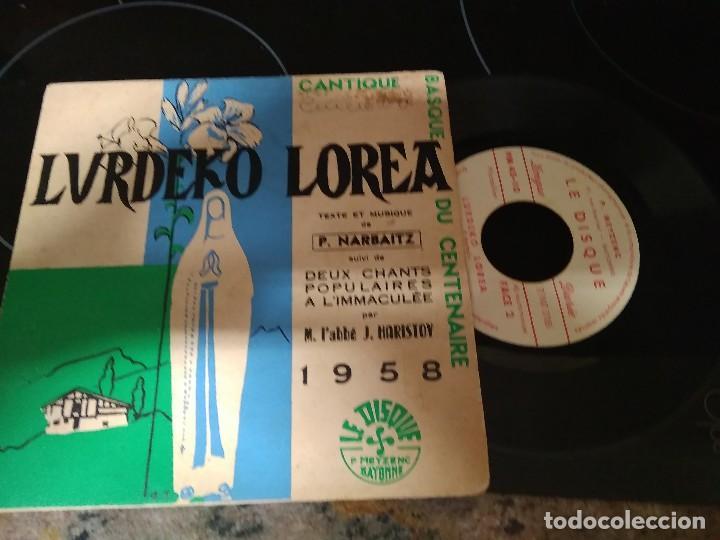 LURDEKO LOREA ( M.L'ABBLE -J.HARISTOY / EP 45 RPM / LE DISQUE BAYONNE 1958 (Música - Discos de Vinilo - EPs - Country y Folk)