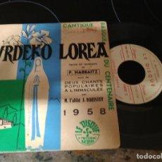 Discos de vinilo: LURDEKO LOREA ( M.L'ABBLE -J.HARISTOY / EP 45 RPM / LE DISQUE BAYONNE 1958. Lote 221941233