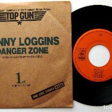 Discos de vinilo: KENNY LOGGINS - DANGER ZONE (TOP GUN) - SINGLE CBS/SONY 1986 JAPAN (EDICIÓN JAPONESA) BPY. Lote 221945665