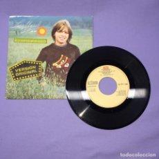 Discos de vinilo: SINGLE LUIS MIGUEL -- UN SOL -- MÉXICO 1982 -- VG+. Lote 221946206