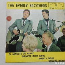Discos de vinilo: THE EVERLY BROTHERS, EL MINUETE DE NANCY, SOLO PORTADA !!. Lote 221946961