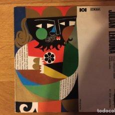 Discos de vinilo: JULIAN LEKUONA: ERREGE BALTAXARREN BALADA / ALELUIA- TXOKEKO AUTOTAN. Lote 221947462