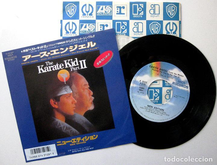 NEW EDITION - EARTH ANGEL (THE KARATE KID, PART II) - SINGLE MCA RECORDS 1986 JAPAN BPY (Música - Discos - Singles Vinilo - Bandas Sonoras y Actores)