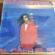 Discos de vinilo: ANTONIO FLORES - AL CAER EL SOL ********** RARO LP 1984 IMPECABLE!. Lote 221957027