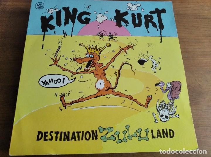 KING KURT - DESTINATION ZULULAND ********** RARO MAXI ESPAÑOL 1984 GRAN ESTADO (Música - Discos de Vinilo - Maxi Singles - Rock & Roll)