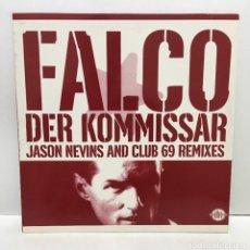 Discos de vinilo: FALCO ?– DER KOMMISSAR (JASON NEVINS AND CLUB 69 REMIXES) - 1998. Lote 221960347