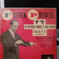 Discos de vinilo: FRANCK POURCEL - EL PUENTE SOBRE EL RÍO KWAI. Lote 221962191