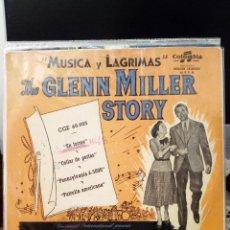 Discos de vinilo: THE GLENN MILLER STORY - MÚSICA Y LÁGRIMAS: EN FORMA / COLLAR DE PERLAS / PENNSYLVANIA / PATRULLA. Lote 221963395