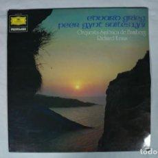 Discos de vinilo: EDUARD GRIEG PEER GYNT SUITES 1 Y 2 ORQUESTA SINFONICA DE BAMBERG RICHARD KRAUS LP VINILO V4I. Lote 221964918