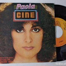 Discos de vinilo: PAOLA ?– CINE (REPRESENTANTE DE SUIZA FESTIVAL EUROVISION 1980). Lote 221966200