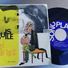 Discos de vinilo: LUIS AGUILE-SINGLE EL SERAFINO. Lote 221976890