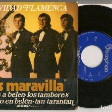 Discos de vinilo: DISCO VINILO. SINGLE. LOS MARAVILLA. NAVIDAD FLAMENCA. DISCOPHON E.P. 27577. (P/C61). Lote 221987388