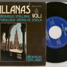 Discos de vinilo: DISCO VINILO. SINGLE. EL PALI. AÑORANZAS SEVILLANAS. VOL. 1. HISPAVOX HHS 16841. (P/C61). Lote 221987656
