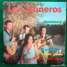 Discos de vinilo: LOS LLANEROS - BALADA GITANA / TRIÁNGULO / EL PECADOR / EL POETA LLORÓ - EP ZAFIRO DE 1963 RF-4617. Lote 221988837