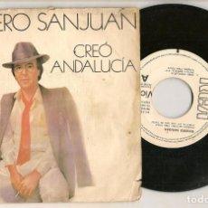 Discos de vinilo: DISCO VINILO. SINGLE. ROMERO SANJUAN. CREÓ ANDALUCÍA. RCA PB 7832. (P/C61). Lote 221989917