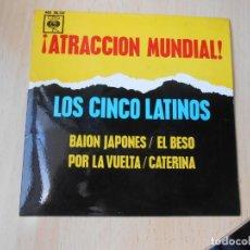 Discos de vinilo: CINCO LATINOS, LOS, EP, BAION JAPONES + 3, AÑO 1963. Lote 221989956