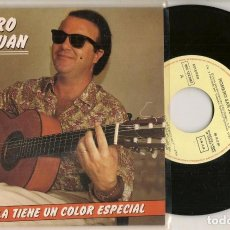 Discos de vinilo: DISCO VINILO. SINGLE. ROMERO SANJUAN. SEVILLA TIENE UN COLOR ESPECIAL. 006 12 2345 7. EMI. (P/C61). Lote 221990201