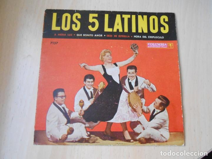 5 LATINOS. LOS, EP, A MEDIA LUZ + 3, AÑO 19?? INDUSTRIA ARGENTINA (Música - Discos de Vinilo - EPs - Grupos y Solistas de latinoamérica)