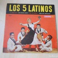 Discos de vinilo: 5 LATINOS. LOS, EP, A MEDIA LUZ + 3, AÑO 19?? INDUSTRIA ARGENTINA. Lote 221990615