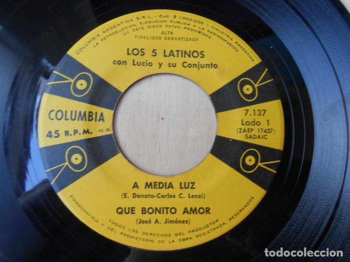Discos de vinilo: 5 LATINOS. LOS, EP, A MEDIA LUZ + 3, AÑO 19?? INDUSTRIA ARGENTINA - Foto 3 - 221990615