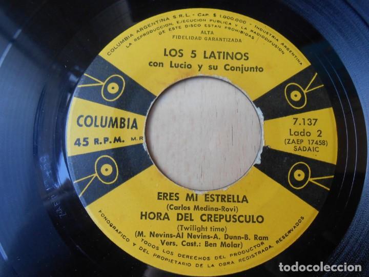Discos de vinilo: 5 LATINOS. LOS, EP, A MEDIA LUZ + 3, AÑO 19?? INDUSTRIA ARGENTINA - Foto 4 - 221990615
