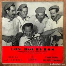 Discos de vinilo: LOS BOCHEROS - ESTAMPA BILBAINA / RIAU RAIU PAMPLONICA.... EP COLUMBIA DE 1963 RF-4621. Lote 221990782