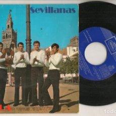 Discos de vinilo: DISCO VINILO. SINGLE. HERMANOS SEVILLA. SEVILLANAS. REGAL- J 016 - 20.653. (P/C61). Lote 221990921