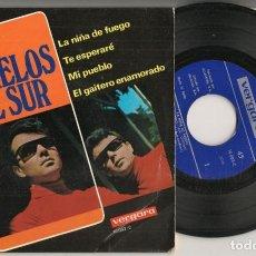 Discos de vinilo: DISCO VINILO. SINGLE. LOS GEMELOS DEL SUR. LA NIÑA DE FUEGO. VERGARA 10.083 C.(P/C61). Lote 221991221