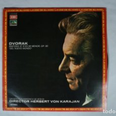 Discos de vinilo: UXV DVORAK LP VINILO 1974 HERBERT VON KARAJAN FILARMONICA BERLIN MUNDO NUEVO SMETANA RIO MOLDAVA. Lote 221991296
