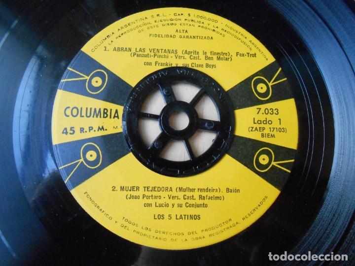 Discos de vinilo: 5 LATINOS. LOS, EP, ABRAN LAS VENTANAS + 3, AÑO 19?? INDUSTRIA ARGENTINA - Foto 3 - 221991395
