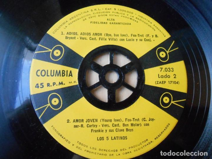 Discos de vinilo: 5 LATINOS. LOS, EP, ABRAN LAS VENTANAS + 3, AÑO 19?? INDUSTRIA ARGENTINA - Foto 4 - 221991395