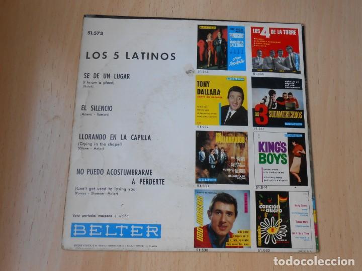 Discos de vinilo: 5 LATINOS. LOS, EP, SE DE UN LUGAR (I KNOW A PLACE) + 3, AÑO 1965 - Foto 2 - 221991903